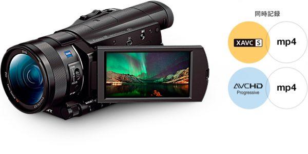 記録と共有に便利、高画質動画とMP4動画の同時記録