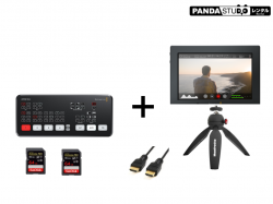Blackmagic Design ATEM Mini  + Blackmagic Video Assist 4K(7インチモニター + 録画機能)