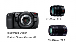 Blackmagic Design Pocket Cinema Camera 4K レンズセット(12-35mm F2.8 +  35-100mm/F2.8)