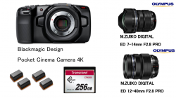 Blackmagic Design Pocket Cinema Camera 4K  + Cfast2.0 + 予備バッテリーセット