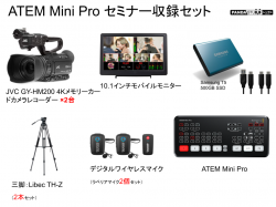 Blackmagic Design ATEM Mini Pro セミナー収録セット