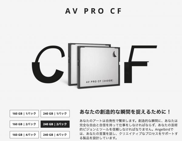 Angelbird CFast2.0 240GB プロ用記録メディア AVpro 240G 2枚セット