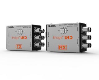 4K UHD対応3G-SDI6系統伝送光延長器 「UHD_QOTR」